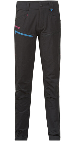 Bergans Youth Girl Utne Pant Solid Charcoal/Br Sea Blue/Hot Pink